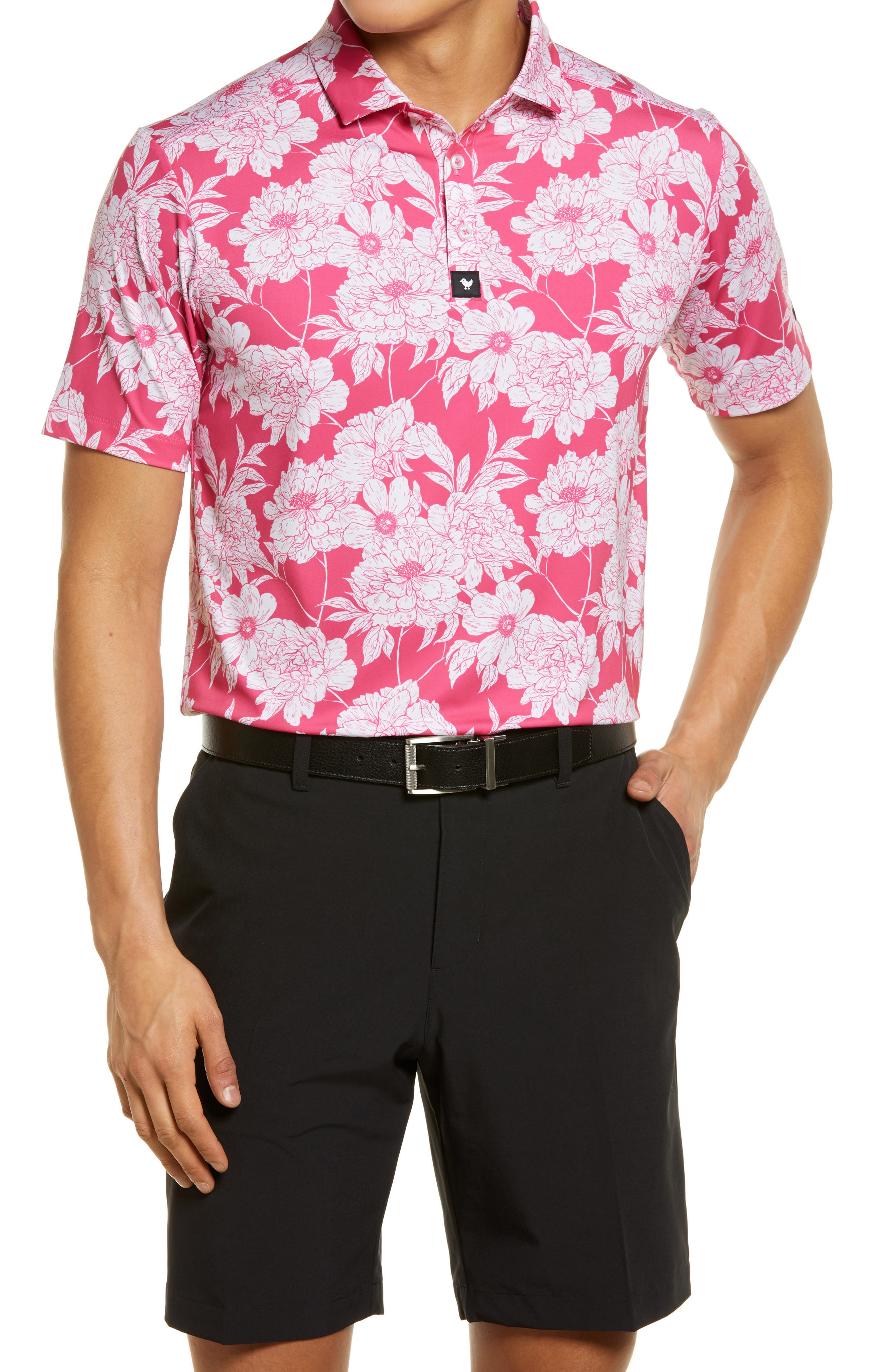 Lalaland Floral Short Sleeve Polo