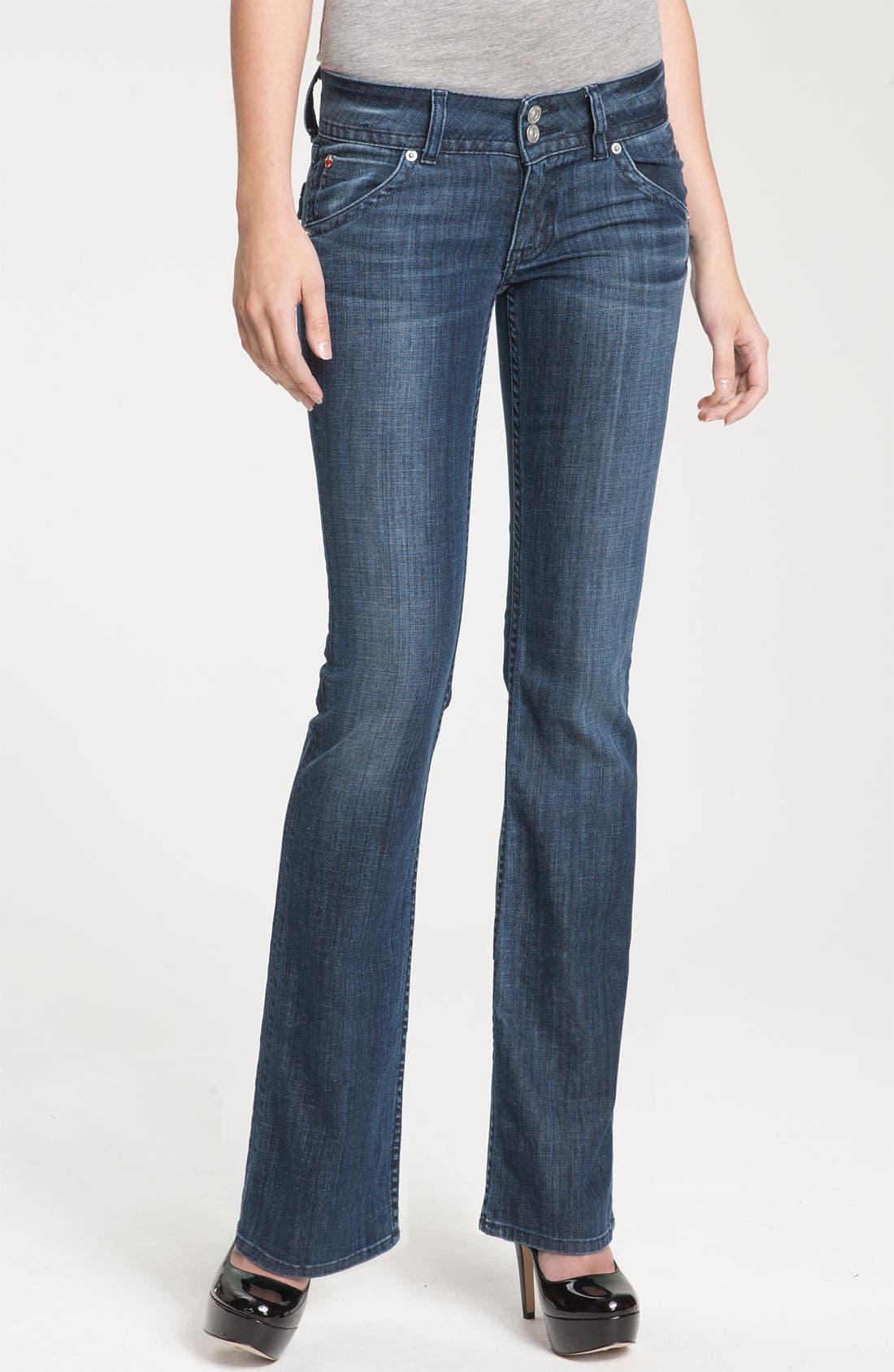 ,                             Signature Flap Pocket Bootcut Jeans,                             Main thumbnail 58, color,                             467