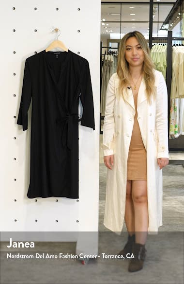 Tencel<sup>®</sup> Lyocell Blend Wrap Dress, sales video thumbnail