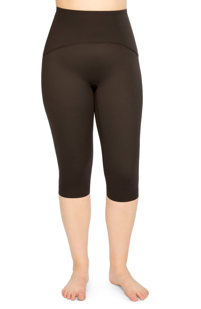SPANX<SUP>®</SUP> Active Knee-Length Leggings, Main, color, BLACK