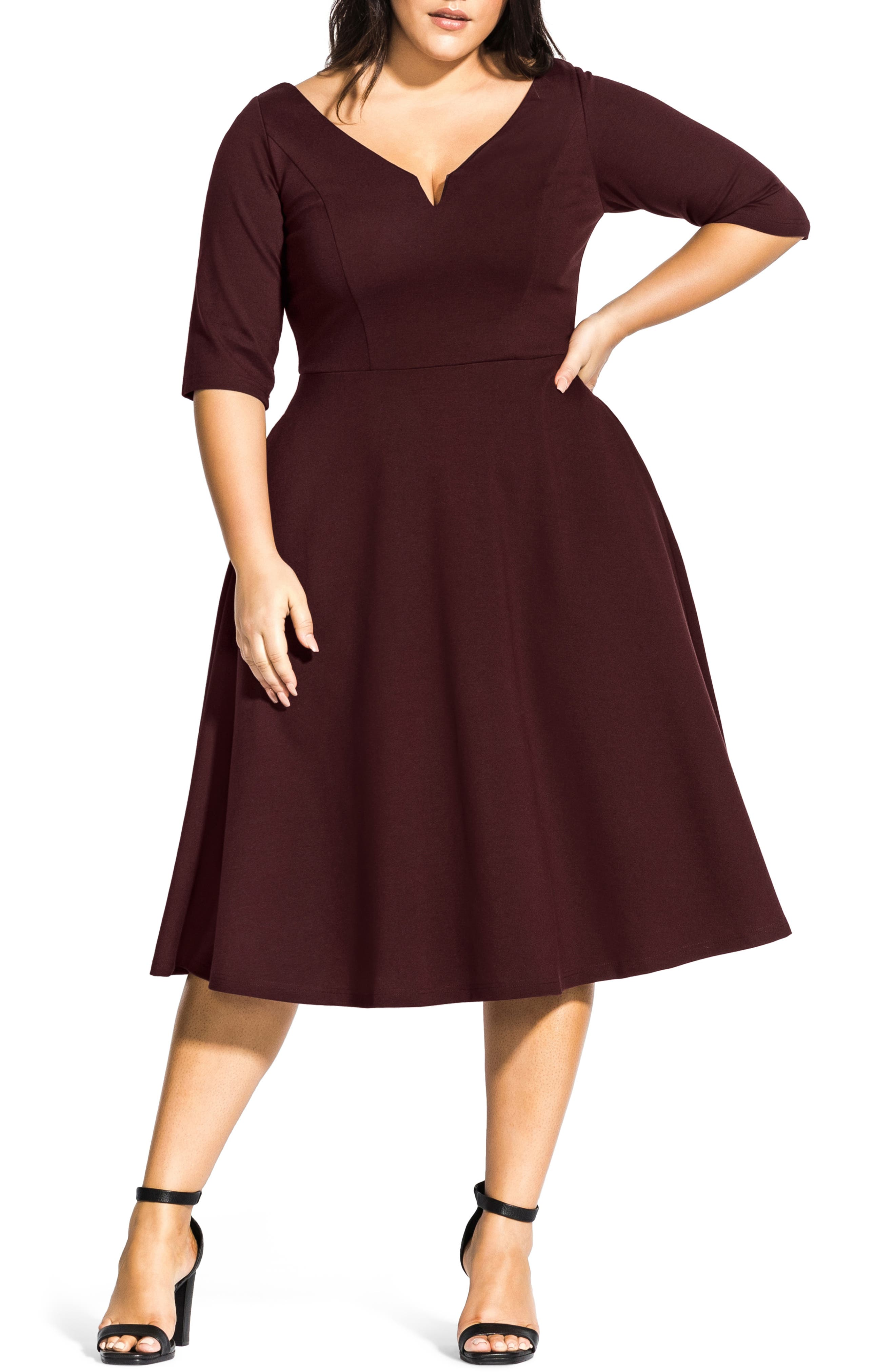 Vintage 50s Dresses: Best 1950s Dress Styles Plus Size Womens City Chic Cute Girl Dress Size X-Small - Red $89.00 AT vintagedancer.com