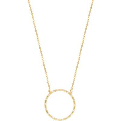 Ettika Crystal Studded Ring Pendant Necklace