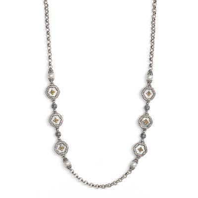 Konstantino Etched Sterling & Pearl Necklace