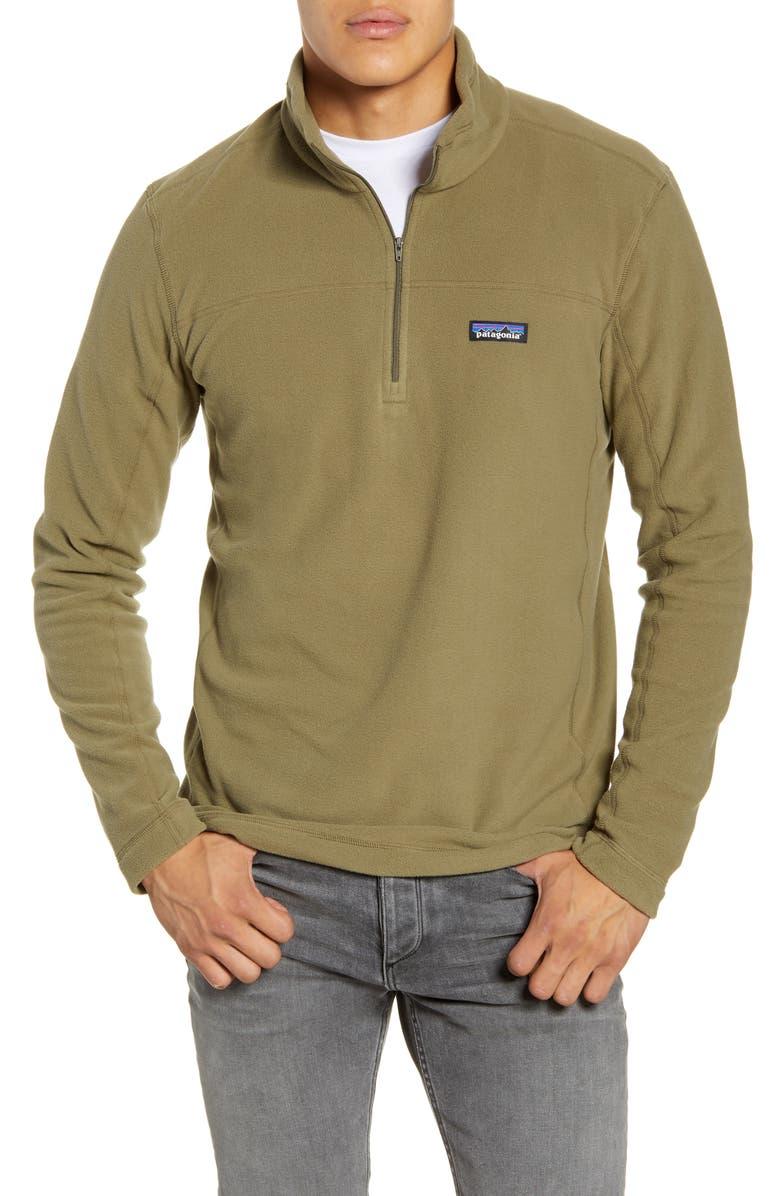 PATAGONIA Fleece Pullover, Main, color, SAGE KHAKI