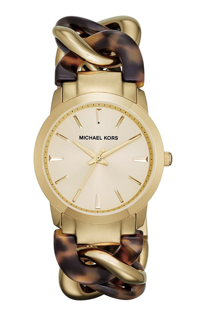 MICHAEL MICHAEL KORS Michael Kors 'Lady Nini' Chain Link Bracelet Watch, 35mm, Main, color, 710