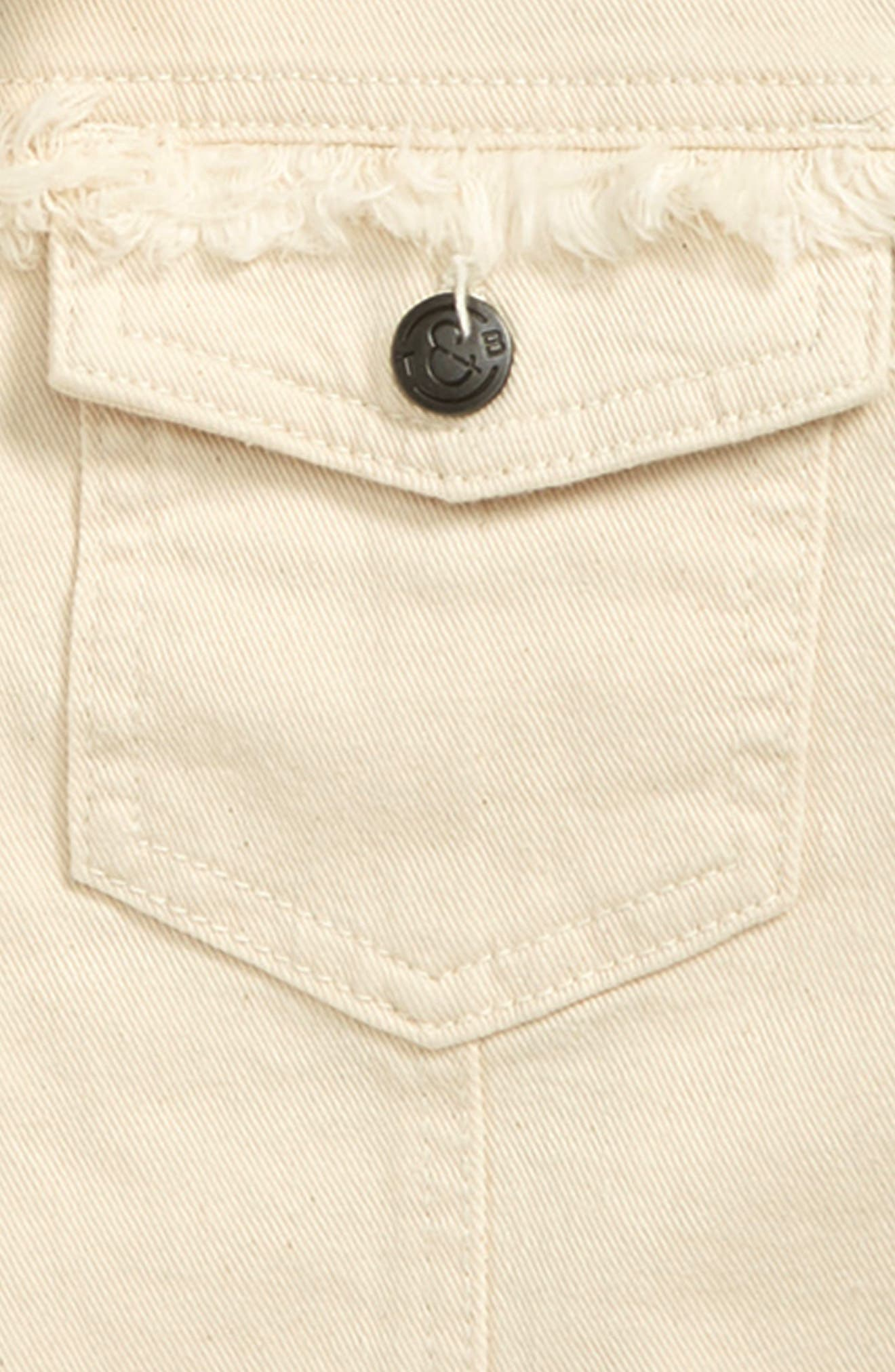 ,                             Cropped Denim Jacket,                             Alternate thumbnail 2, color,                             RAW DENIM WASH