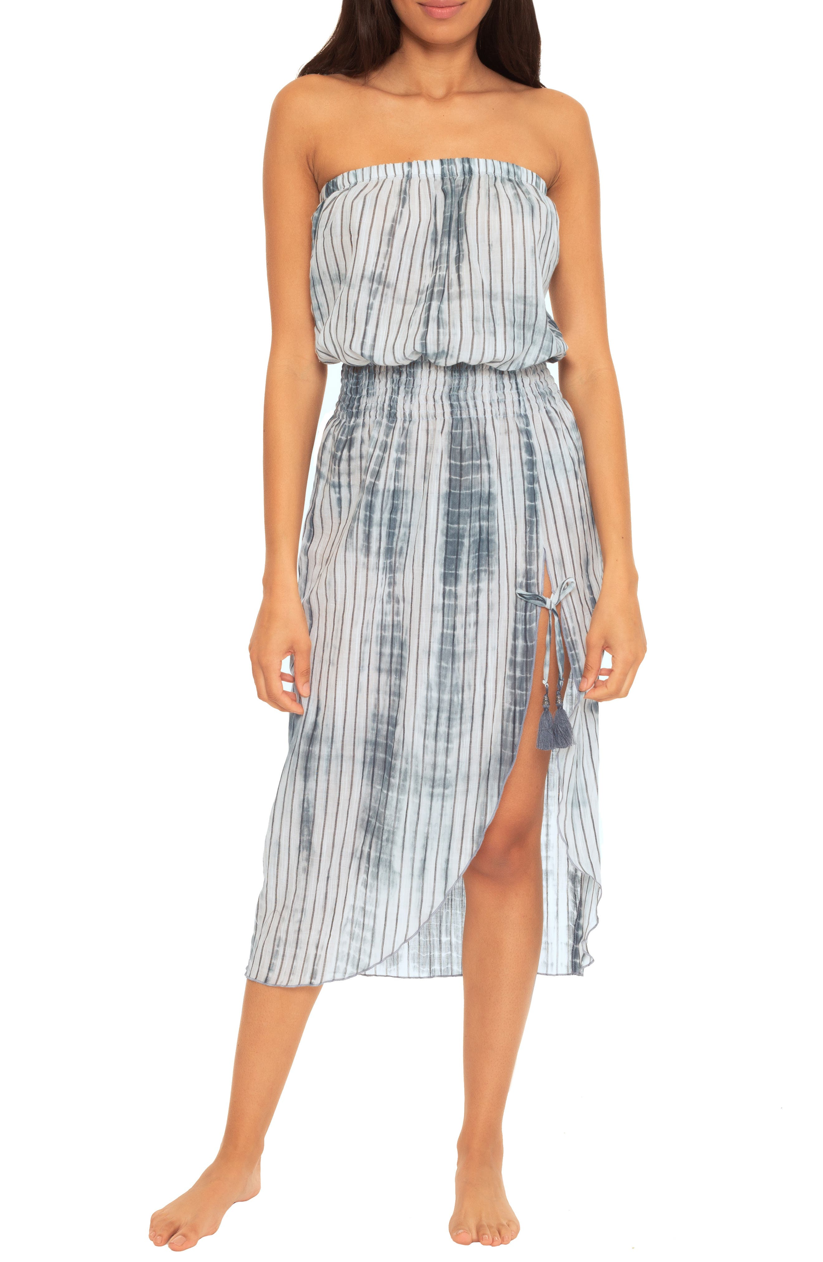 Sol Line Strapless Cotton Cover-Up Dress