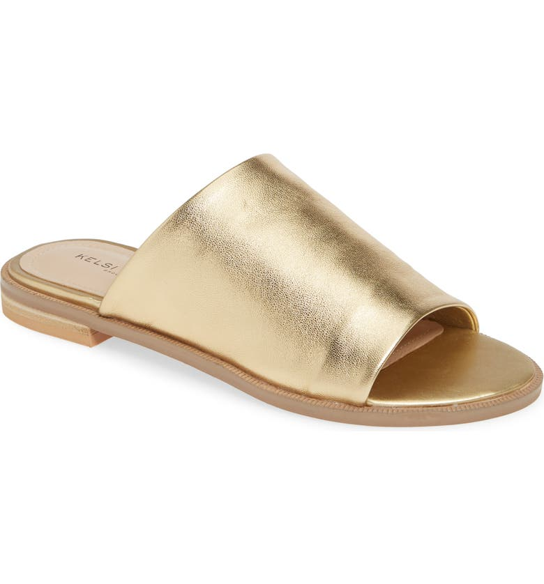 KELSI DAGGER BROOKLYN Ruthie Slide Sandal, Main, color, GOLD RUSH LEATHER