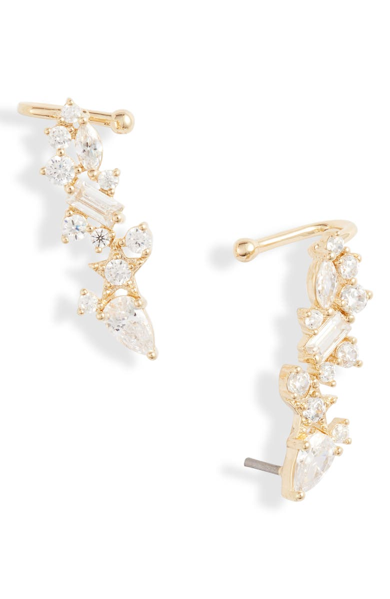 NORDSTROM Star Cluster Ear Cuffs, Main, color, CLEAR- GOLD