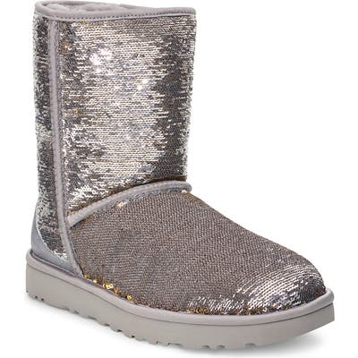 UGG Classic Cosmos Sequin Short Boot, Metallic