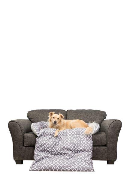 Image of Duck River Textile Grey Mazi Geo Reversible Sofa Cover