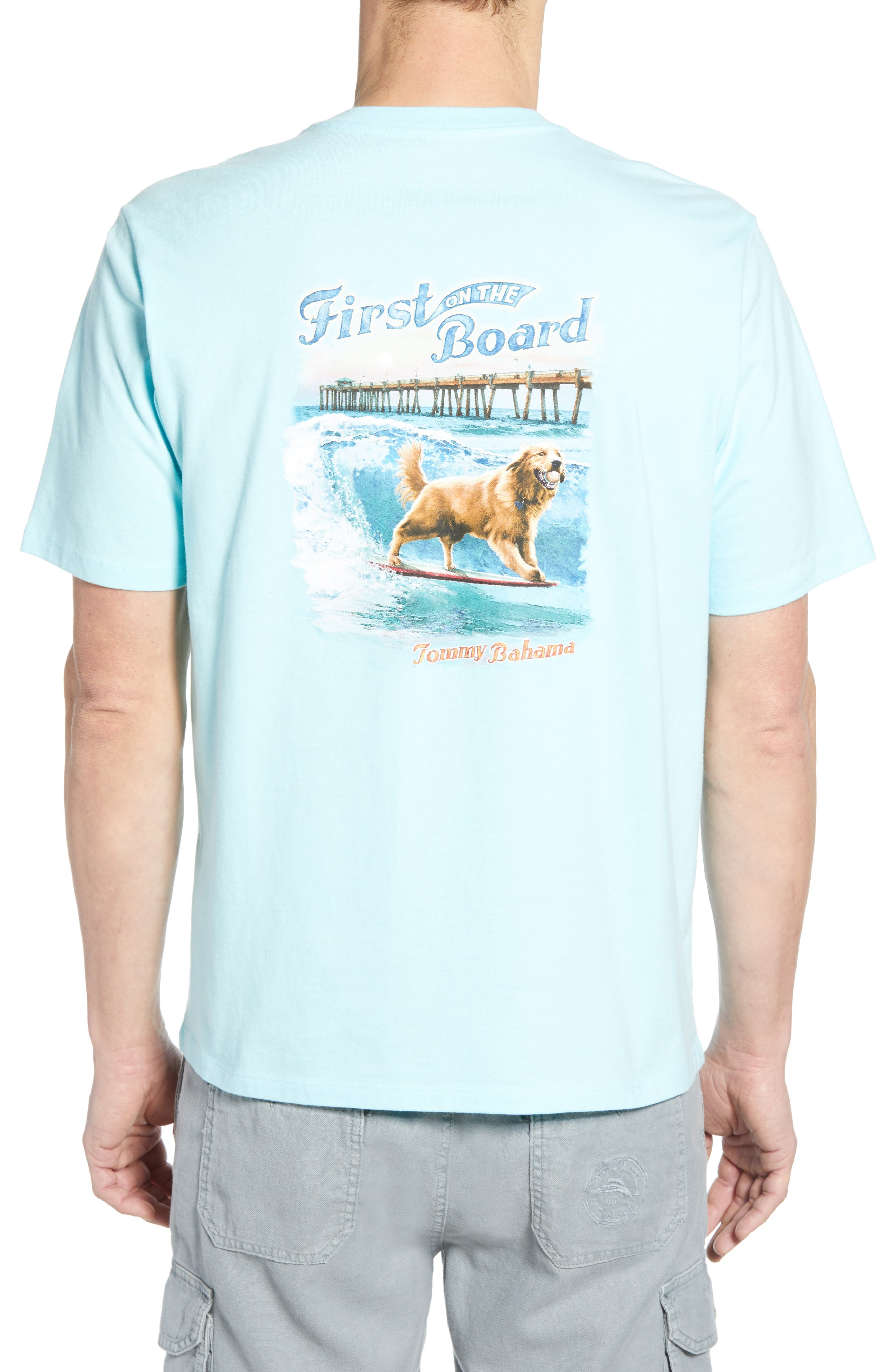 ,                             First on the Board Graphic T-Shirt,                             Alternate thumbnail 2, color,                             SEA SPRITE BLUE
