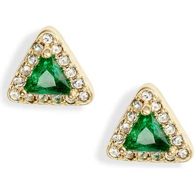 Nordstrom Crystal Triangle Stud Earrings