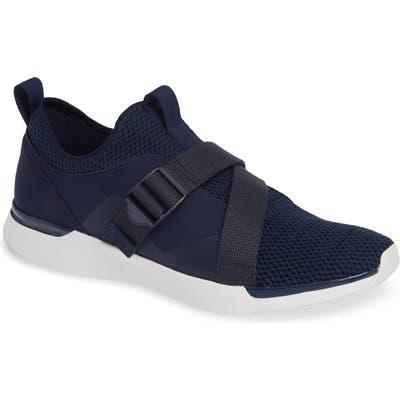Fitflop Flexknit Strap Sneaker, Blue