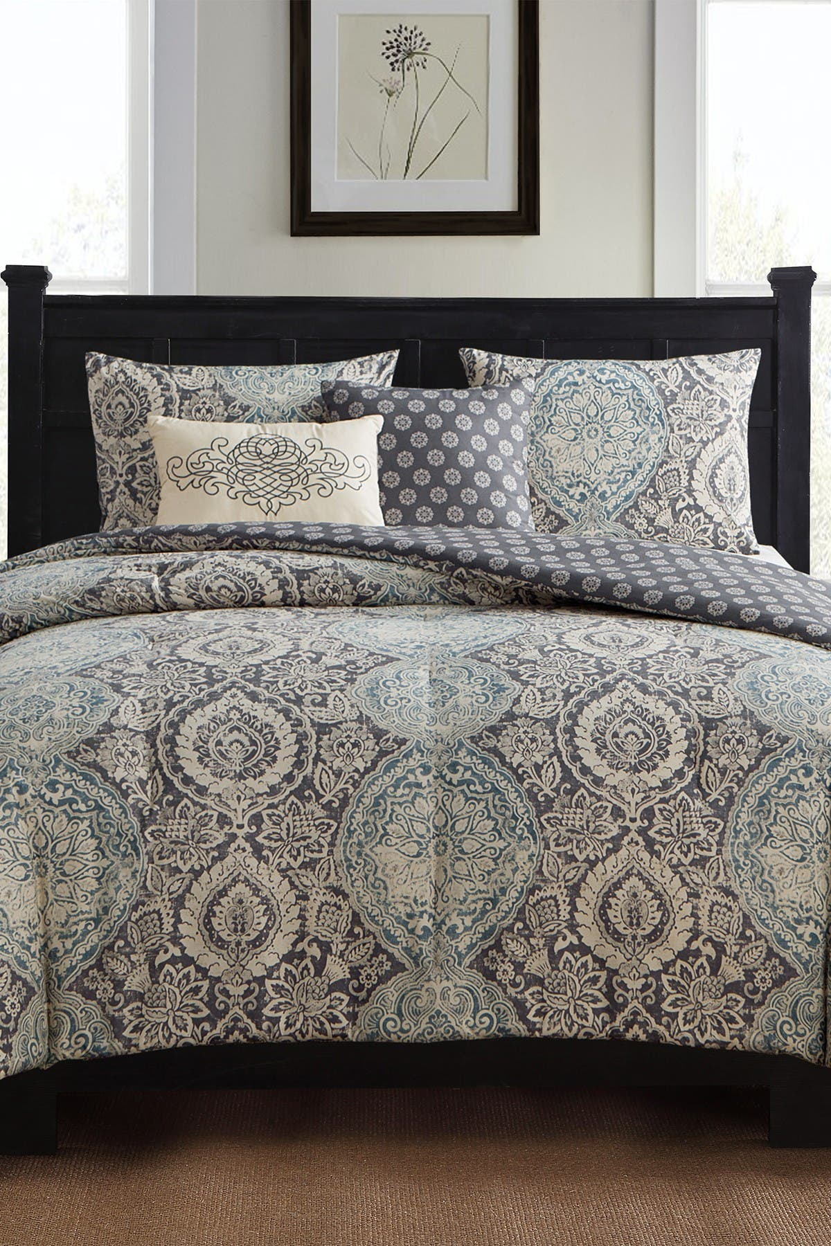 Vcny Home Full Queen Victoria Reversible Paisley Comforter Set Neutral Nordstrom Rack