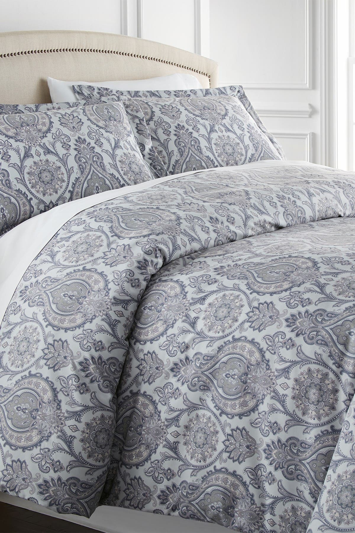 Southshore Fine Linens King California King Sized Luxury Premium Oversized Comforter Sets Boho Paisley Grey Nordstrom Rack