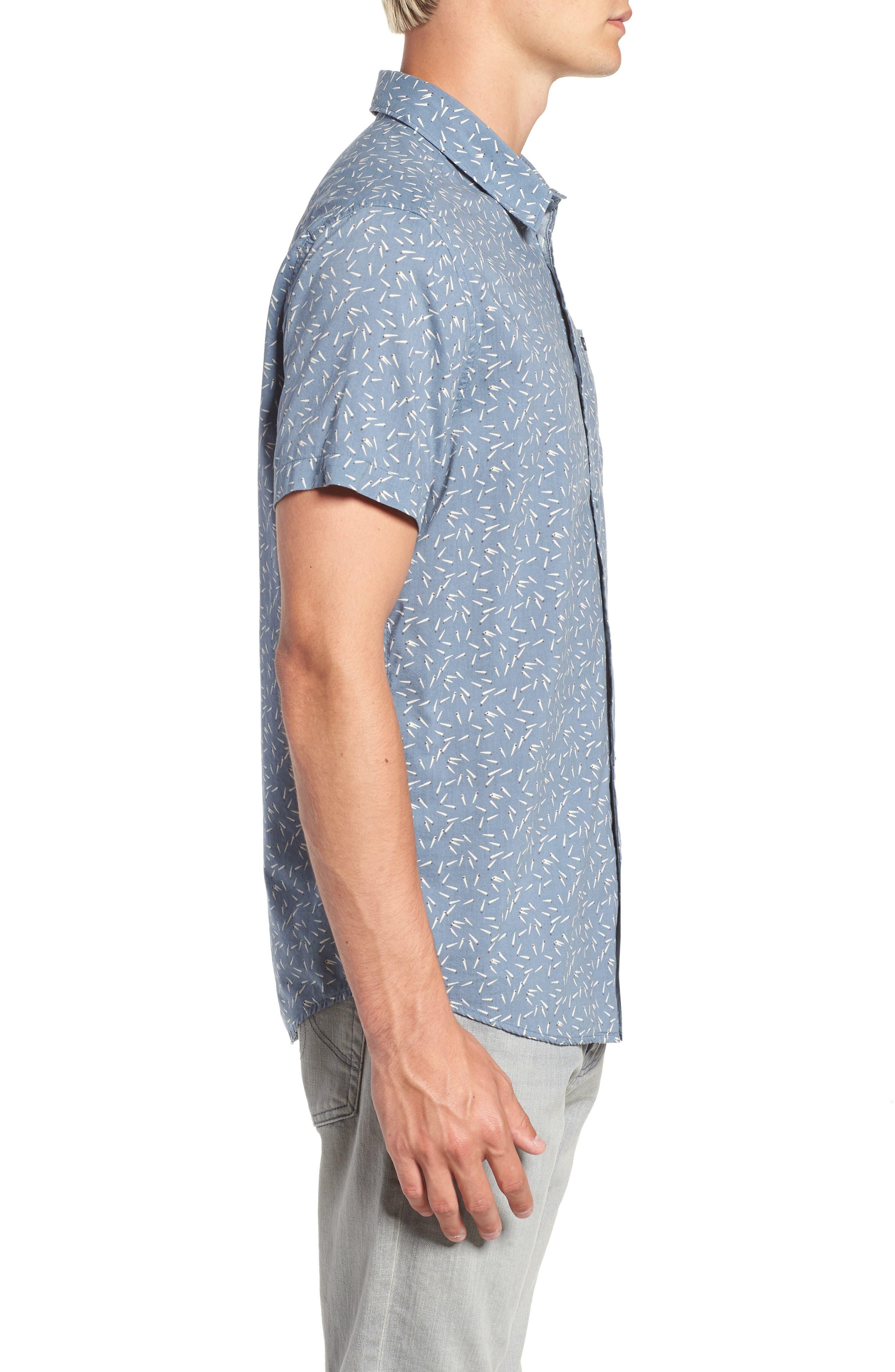 ,                             Pins & Needles Slim Fit Woven Shirt,                             Alternate thumbnail 9, color,                             434