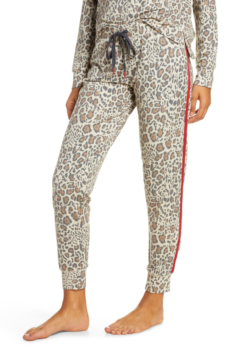 PJ SALVAGE Wild Heart Banded Pants, Main, color, TAN