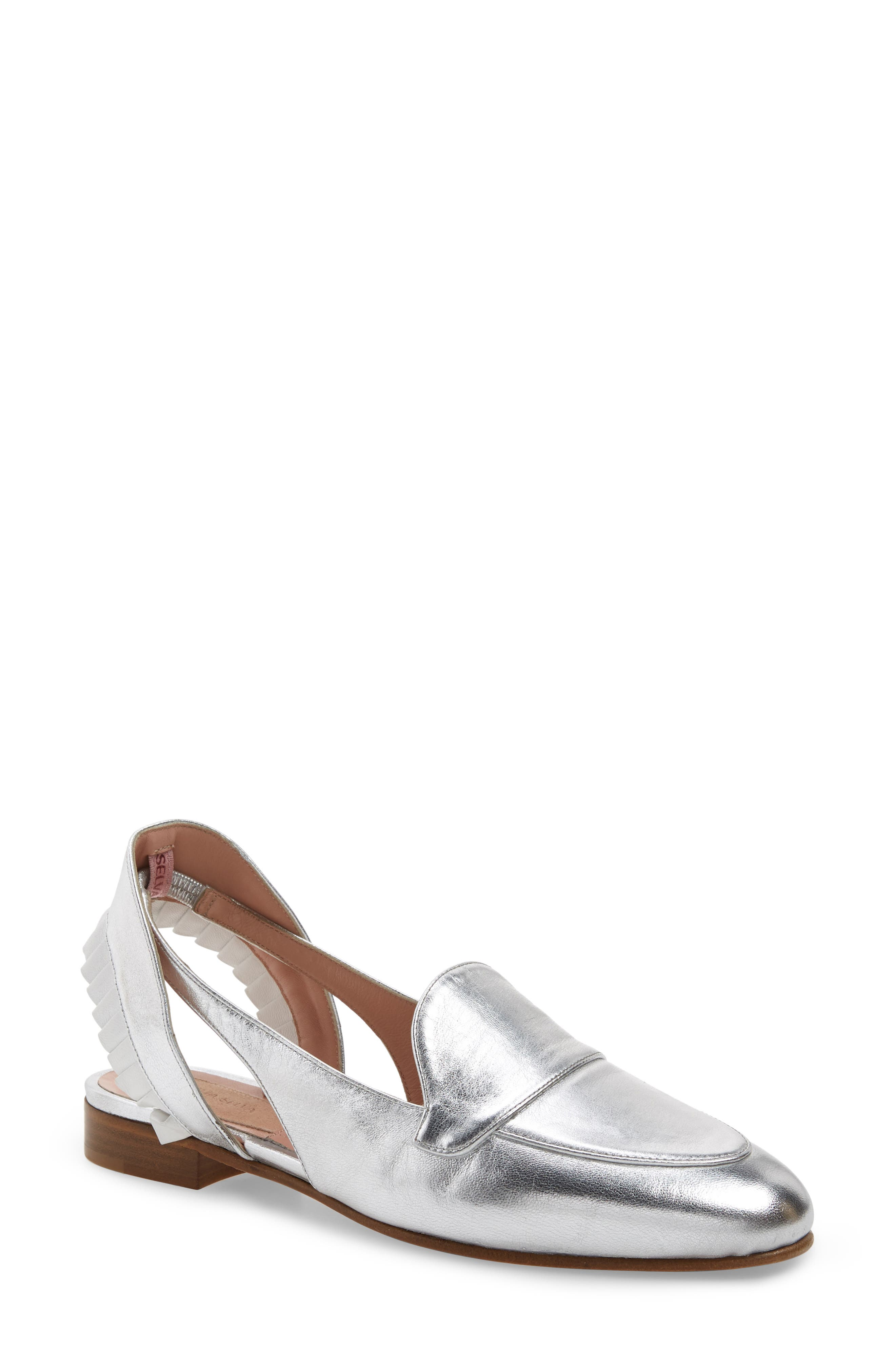 Dahlia Selva Gulity Pleat Loafer - Metallic