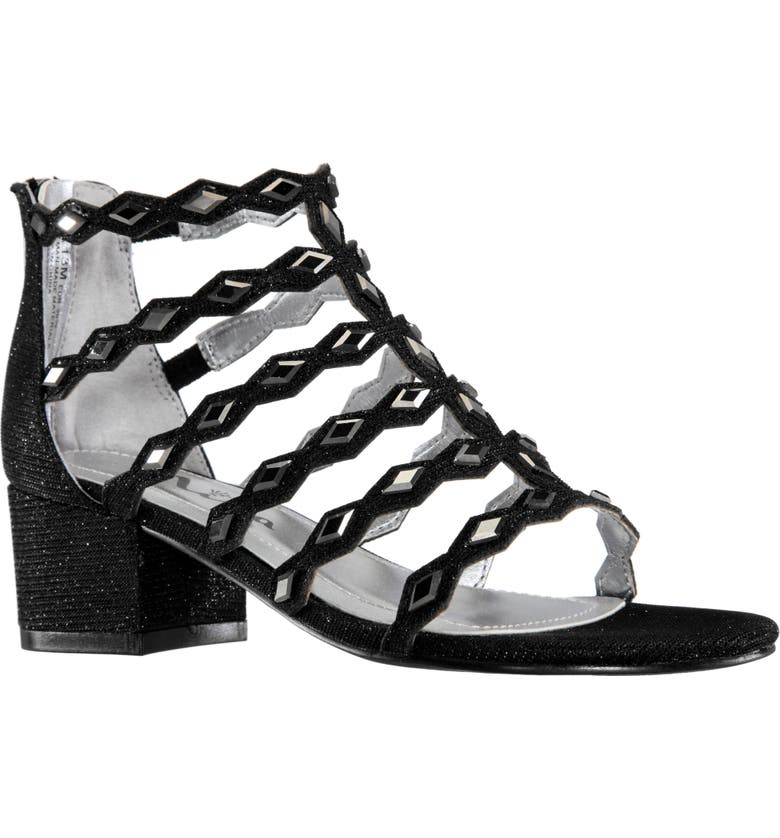 NINA Mantina Sandal, Main, color, BLACK SHIMMER