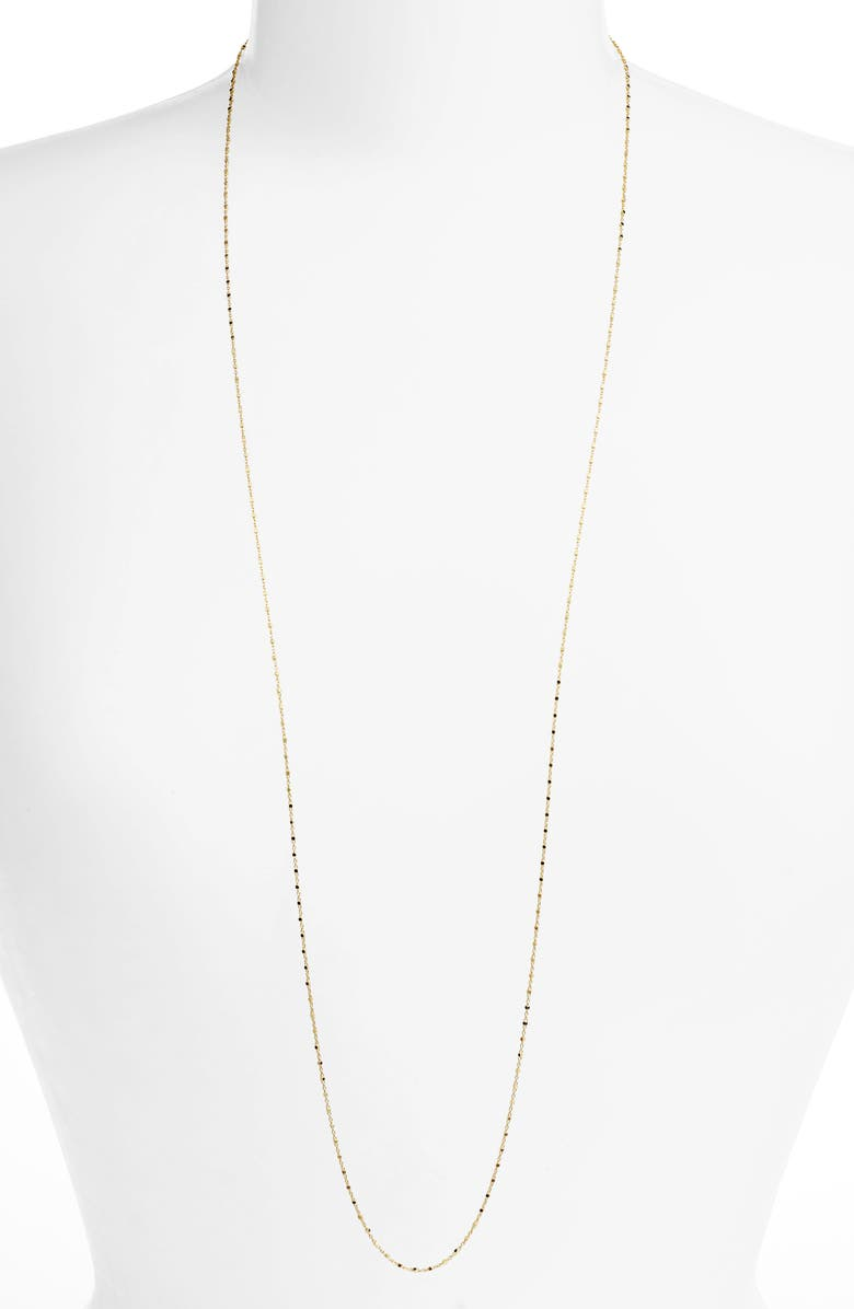 BONY LEVY Long Beaded Chain Necklace, Main, color, YELLOW GOLD