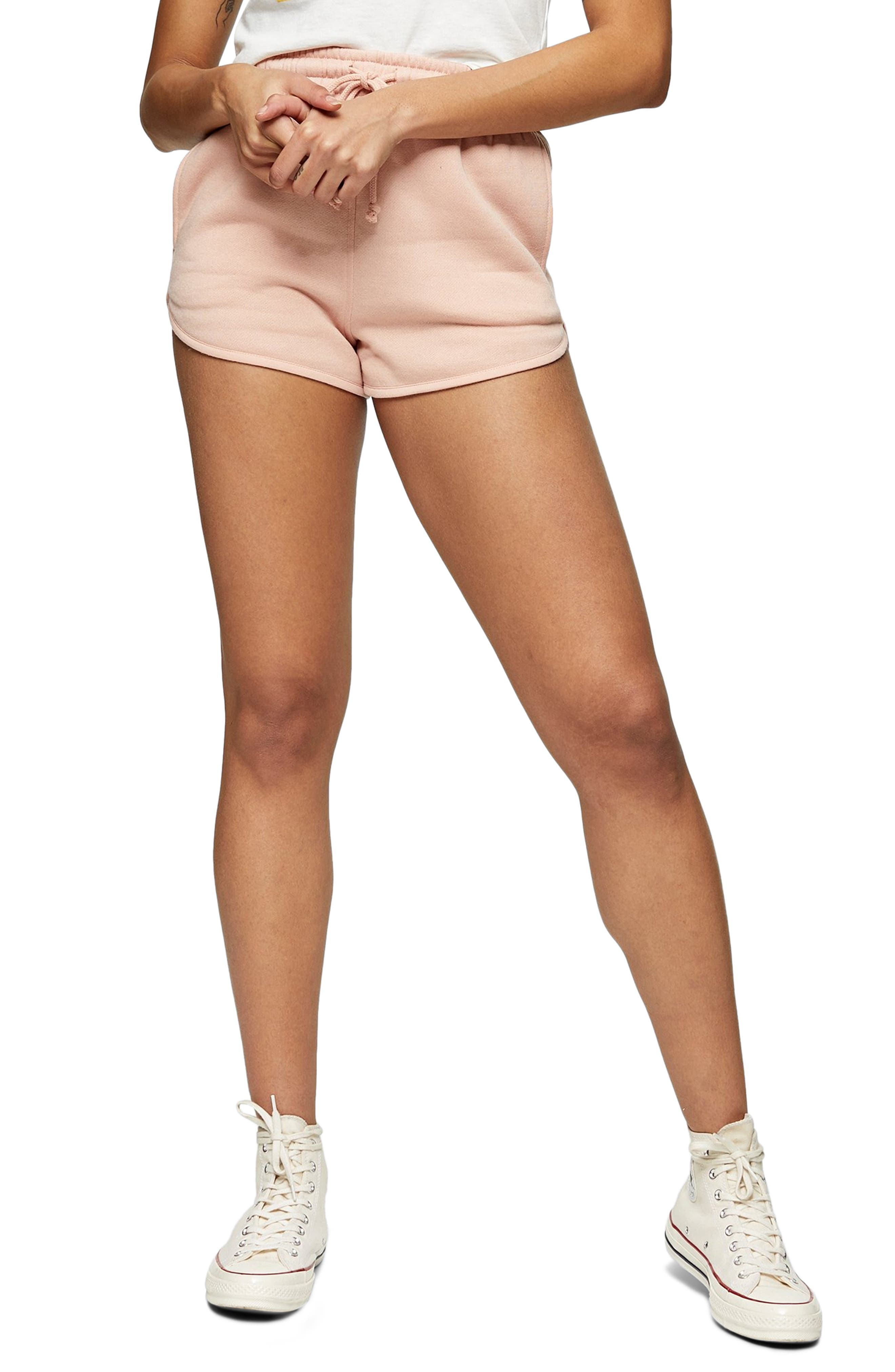 Women's Topshop '90S Runner Shorts,  12 US (fits like 14) - Pink