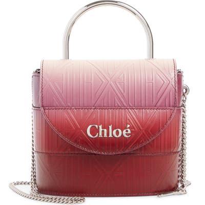 Chloe Aby Lock Monogram Embossed Leather Crossbody Bag - Purple