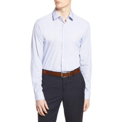 Boss Slim Fit Stripe Travel Dress Shirt, Blue