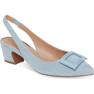 Linea Paolo Baize Buckle Pointed Toe Slingback Pump, Blue