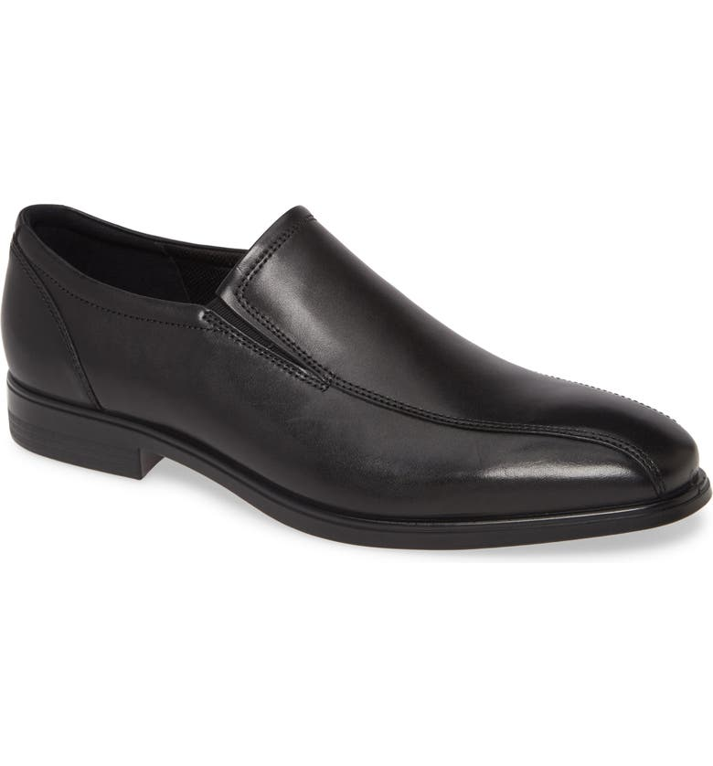 ECCO Queenstown Venetian Loafer, Main, color, BLACK