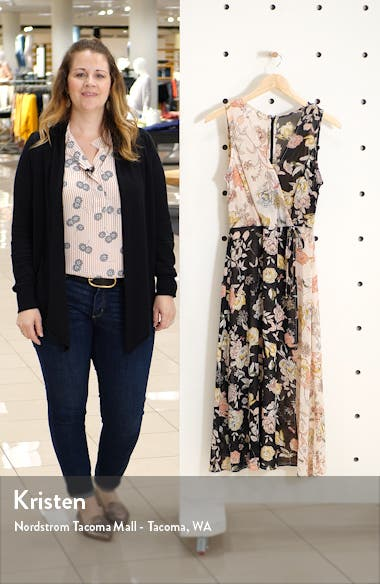 Floral Mix Faux Wrap Dress, sales video thumbnail