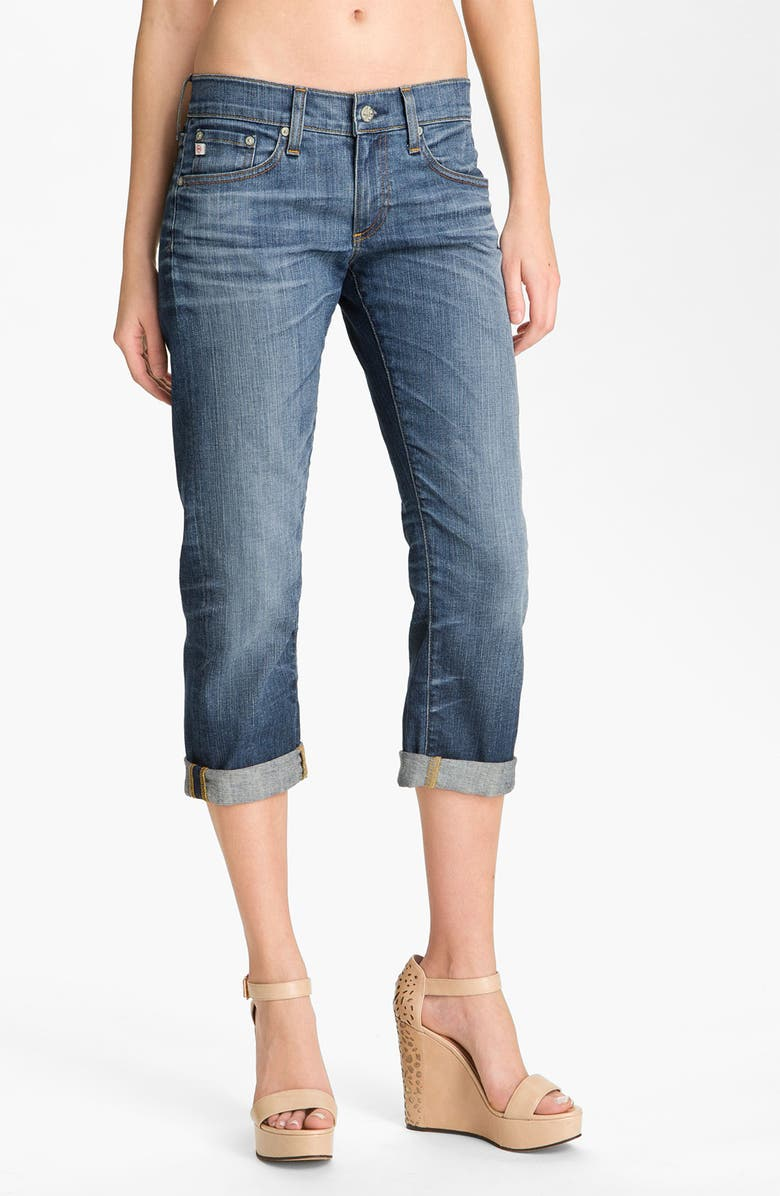 AG Jeans 'Tomboy' Crop Stretch Jeans, Main, color, 400