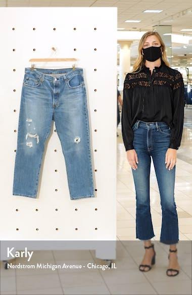 501<sup>®</sup> Ripped High Waist Crop Straight Leg Jeans, sales video thumbnail