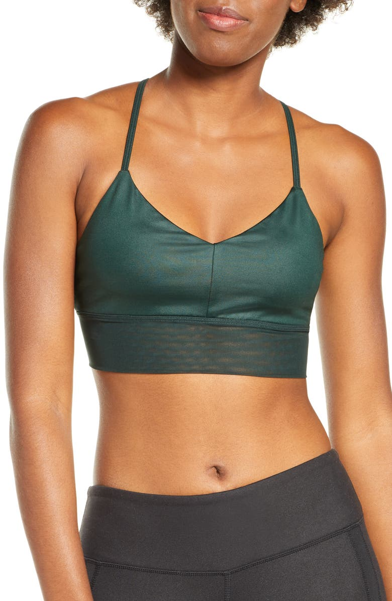 ALO Yoga Bra, Main, color, FOREST GLOSSY/ FOREST