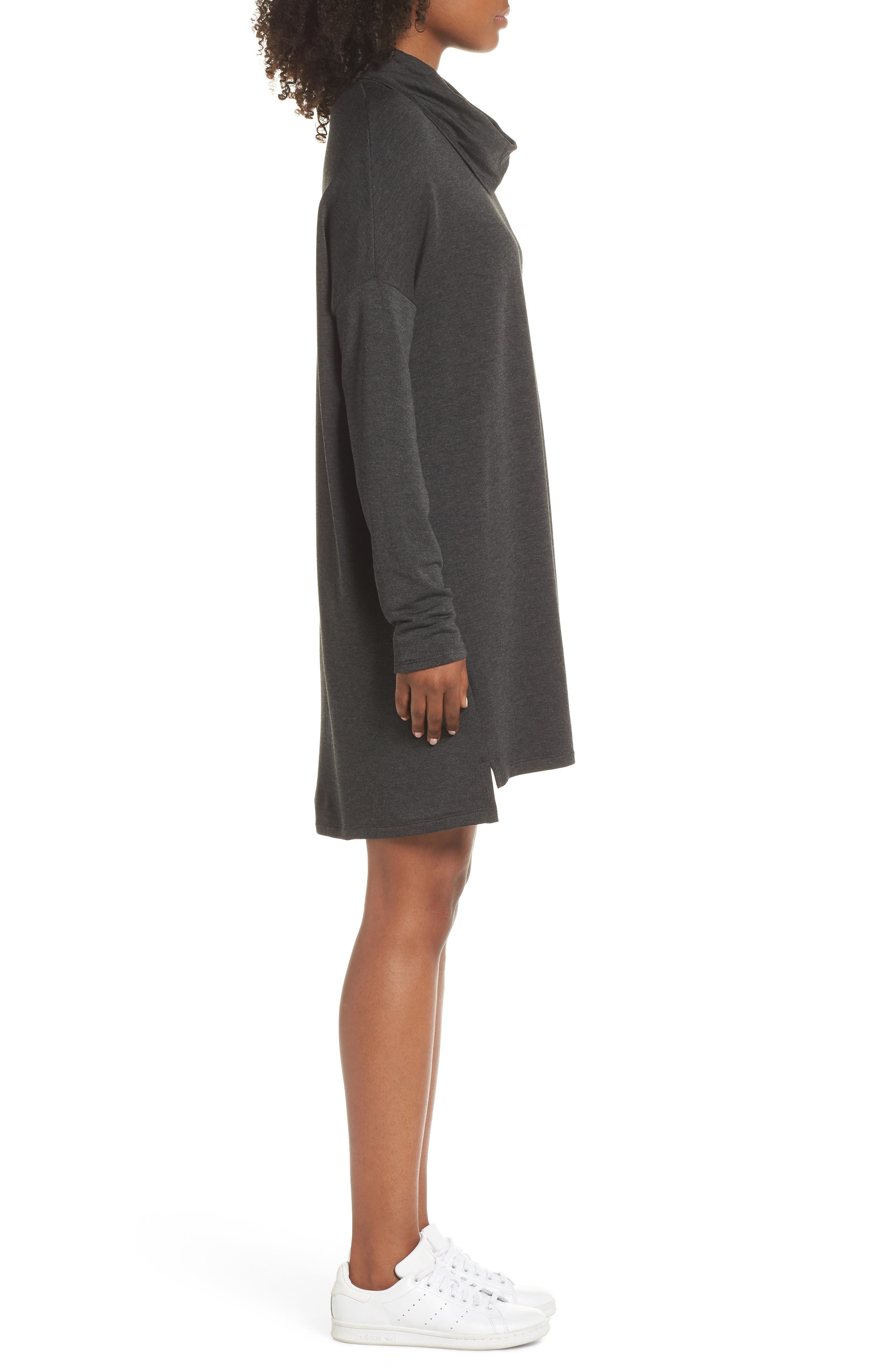 ,                             Cowl Neck Dress,                             Alternate thumbnail 4, color,                             020