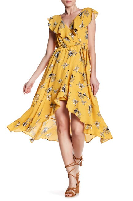 Image of Soprano Ruffle Printed Midi Dress