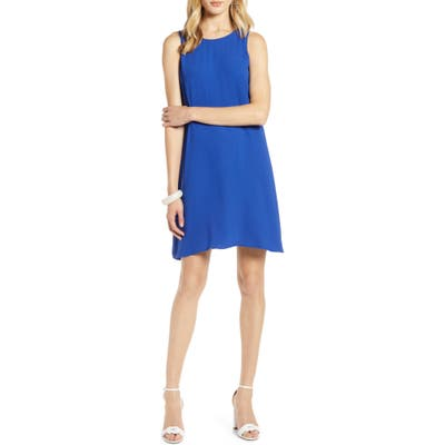 Halogen A-Line Dress, Blue