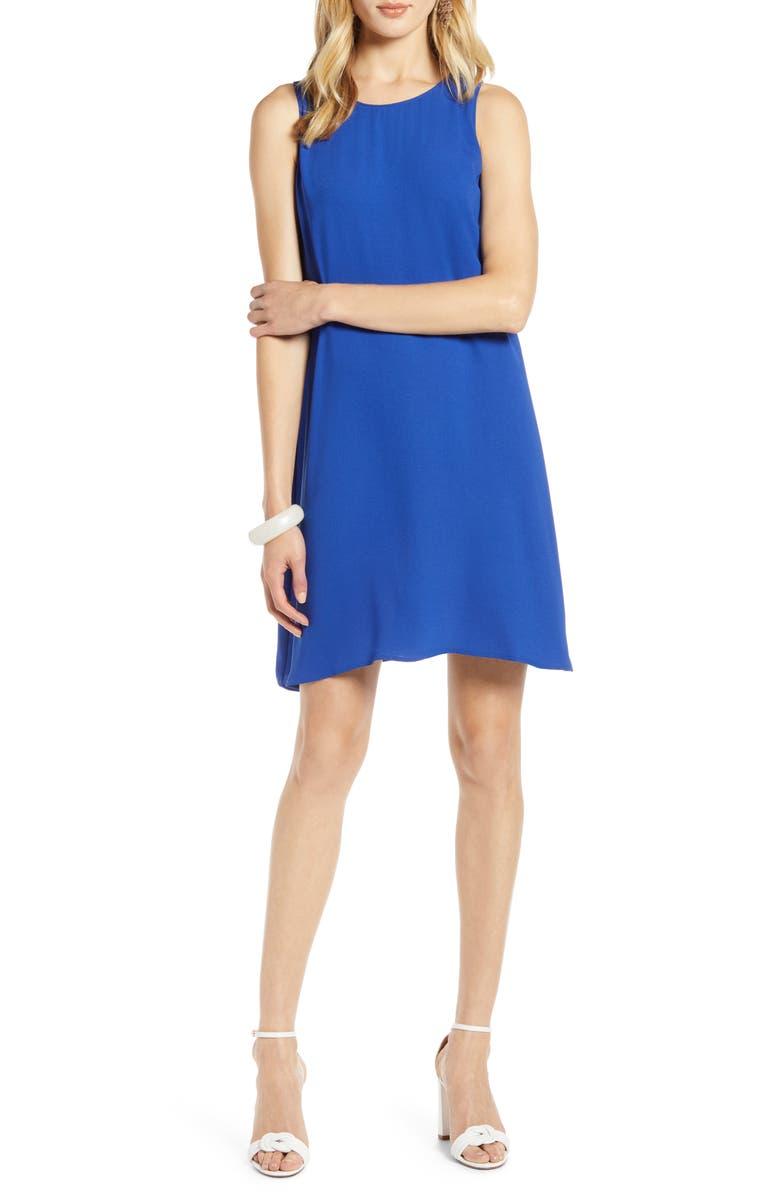 HALOGEN<SUP>®</SUP> A-LINE TANK DRESS, Main, color, BLUE MAZARINE