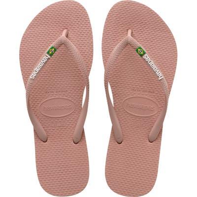 Havaianas Slim Brazil Flip Flop, 1/42 BR - Pink