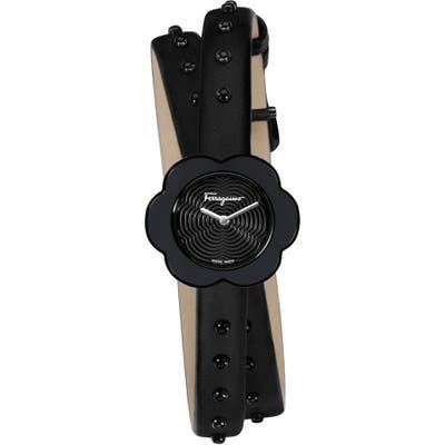 Salvatore Ferragamo Fiore Leather Strap Watch, 2m