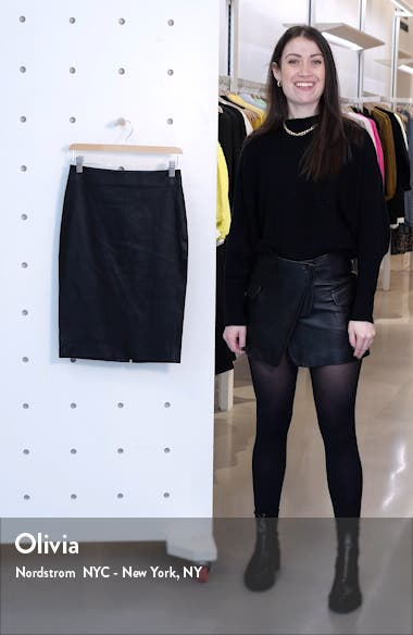 Leather Skinny Pencil Skirt, sales video thumbnail