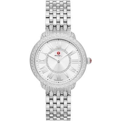 Michele Serein Mid Pave Diamond Watch Head & Interchangeable Bracelet, Mm (Nordstrom Exclusive)