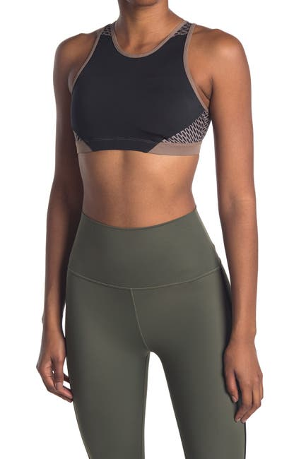 Image of WEAR IT TO HEART 2.0 Mesh Panel High Neck Sports Bra