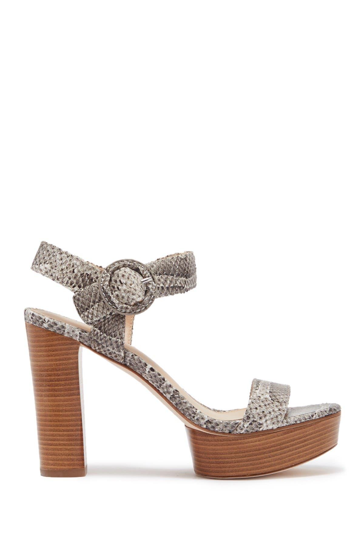 Image of Via Spiga Ira Snakeskin Printed Leather Sandal