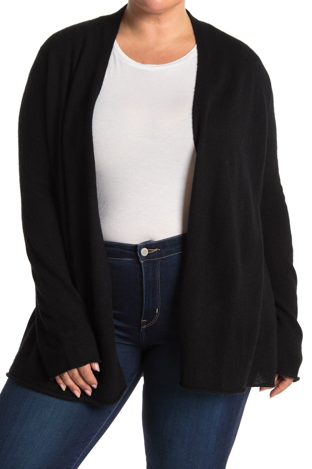 Image of GRIFFEN CASHMERE Long Sleeve Open Front Cashmere Cardigan