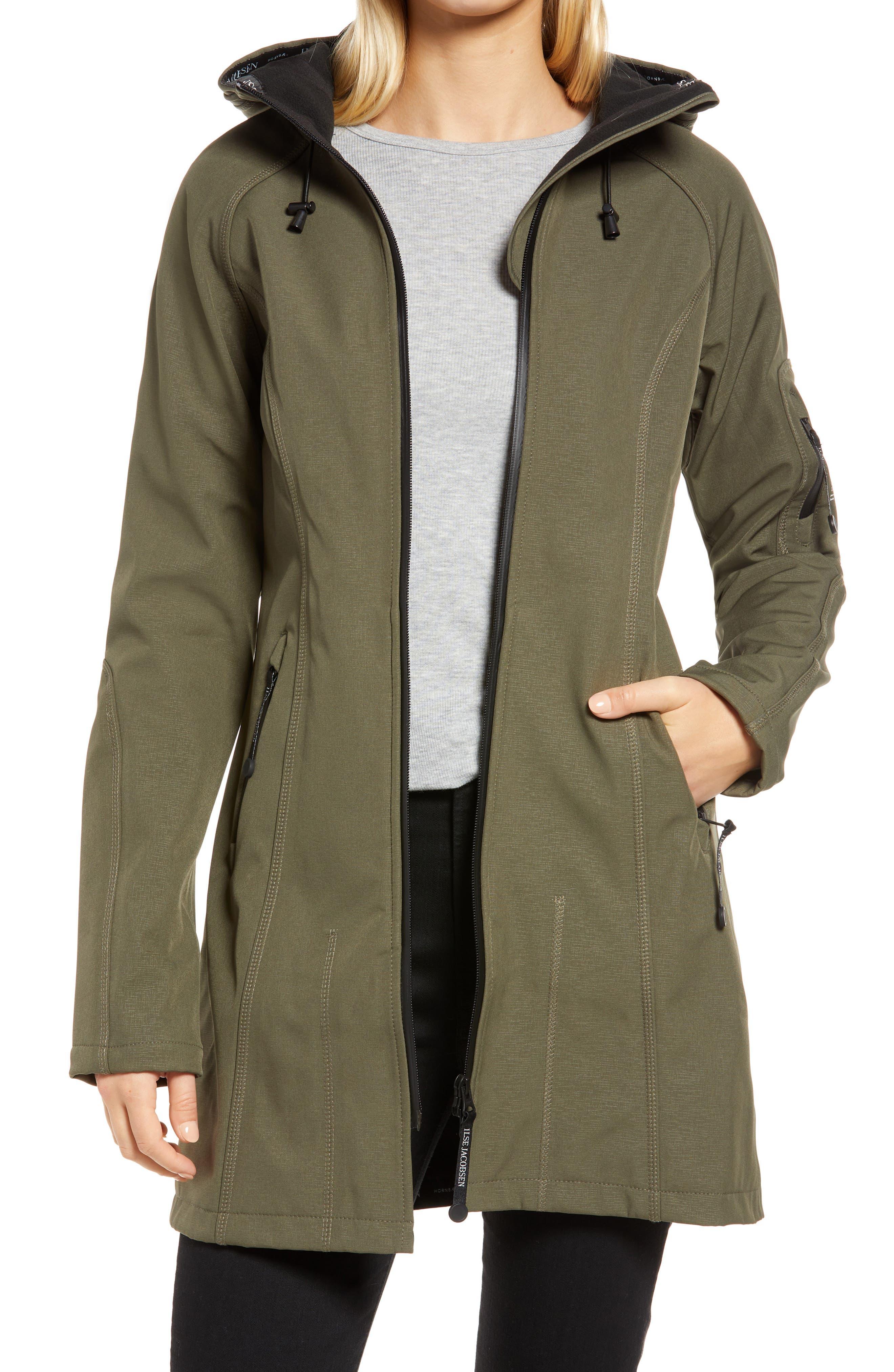 Regular Fit Hooded Raincoat