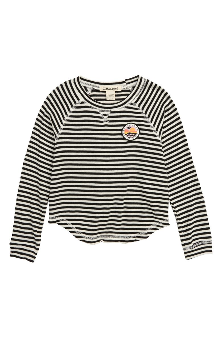 BILLABONG Go For It Stripe Knit Top, Main, color, WHITE/ BLACK