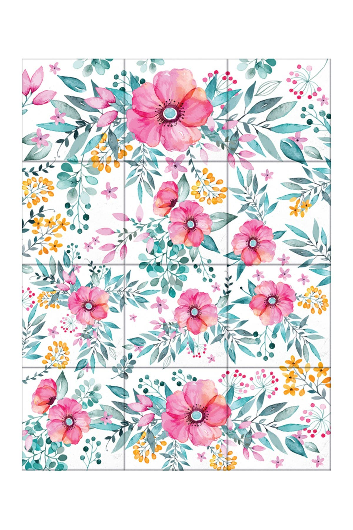 Image of WalPlus Sweet Spring Bouquet Tiles Mix Wall Stickers