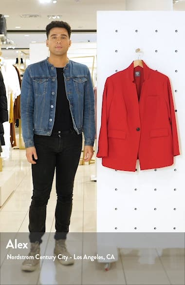 Convertible Collar Stretch Crepe Blazer, sales video thumbnail