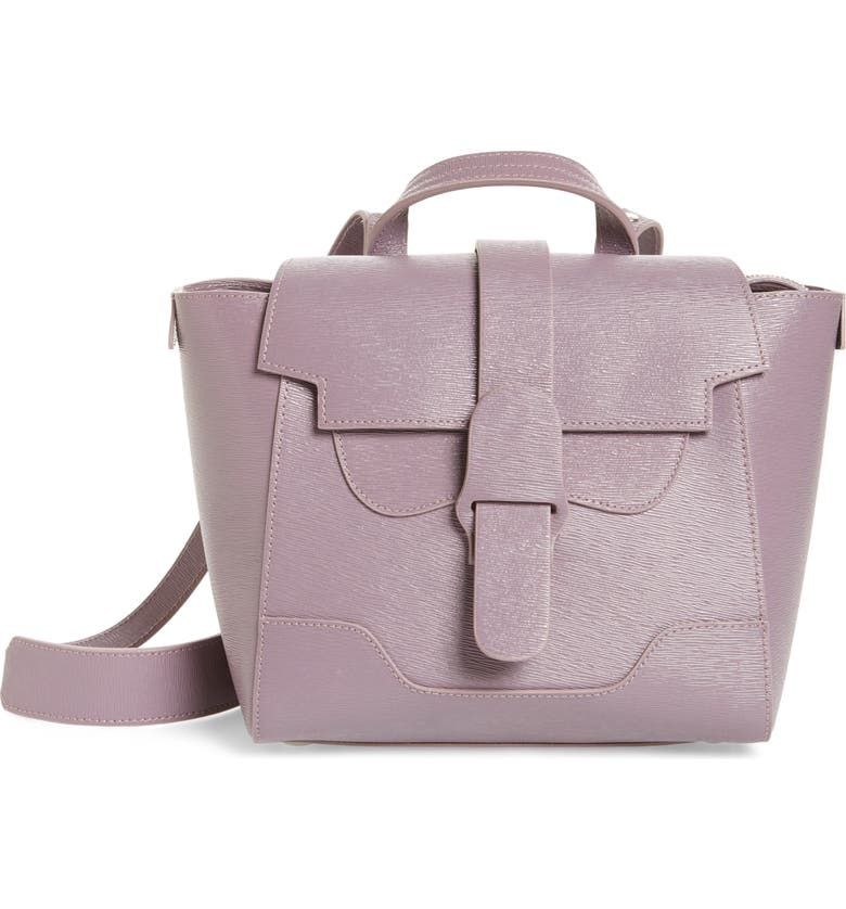 SENREVE Mini Maestra Leather Satchel, Main, color, MIMOSA LILAC